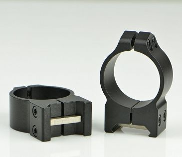 WARNE 1in Steel Rings - Medium Height - Black Matte